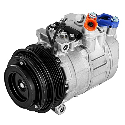 Happybuy CO 105111C (0002302011) 0610045 471-0293 5117679AA Universal Air  Conditioner AC Compressor for 96-08 Mercedes C CL CLK E ML S SL 7SBU16C A/C