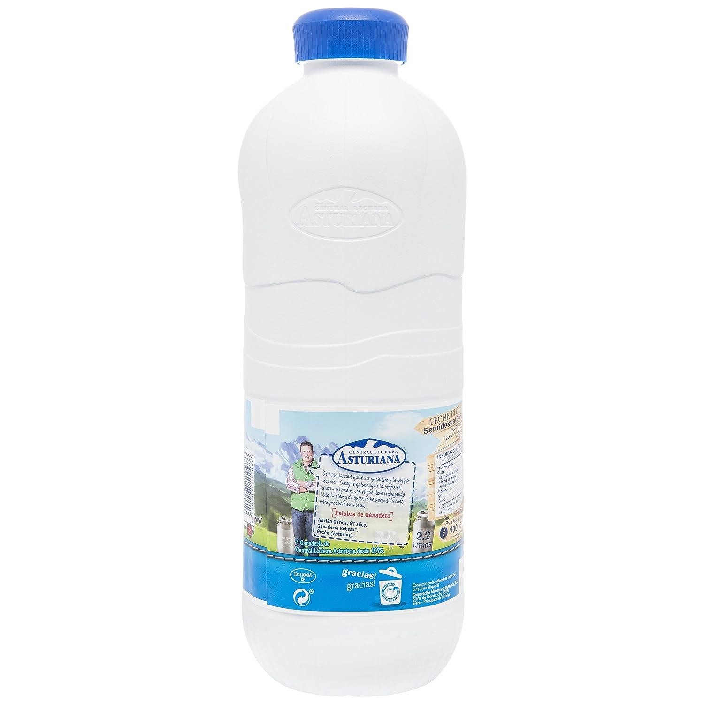 Central Lechera Asturiana Leche Semidesnatada - Paquete de 6 x 2200 ml - Total: 13200 ml: Amazon.es: Alimentación y bebidas