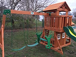 com backyard discovery tanglewood all cedar wood playset swing set