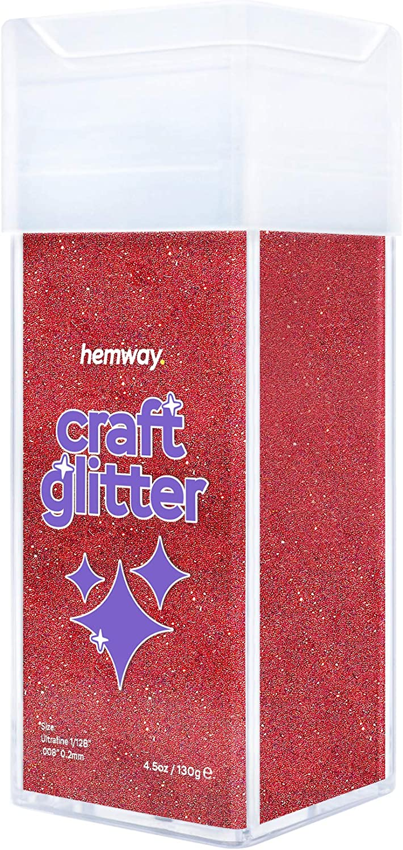 Fuchsia 1//128 0.008 0.2MM Hemway Ultra Fine//Extra Fine Craft Glitter Shaker for Arts Crafts Tumblers Schools Paper Glass Decorations DIY Projects 130g//4.6oz