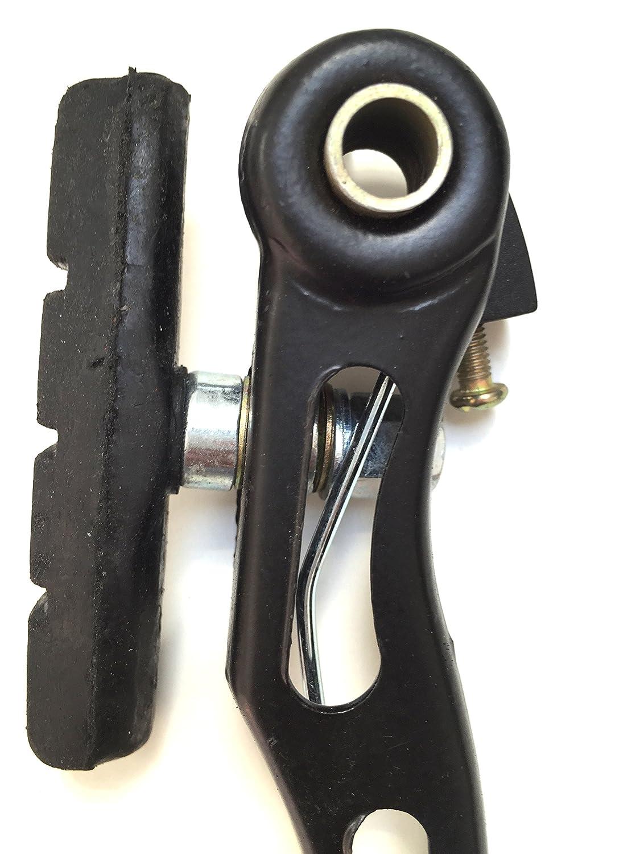 Cables eRadius BMX palancas Negras + Accesorios de Freno V Juego de Frenos en V para Bicicleta de monta/ña Delantero + Trasero