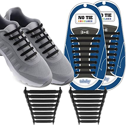 Pack of 3 Elastic Sneakers Boot Athletic Running Shoe Strings No Tie Shoelaces One Size Fits All Shoe Laces