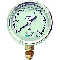 'Manómetro, ng63Ø63mm, 0–10bares G1/4trasera glyzerin relleno