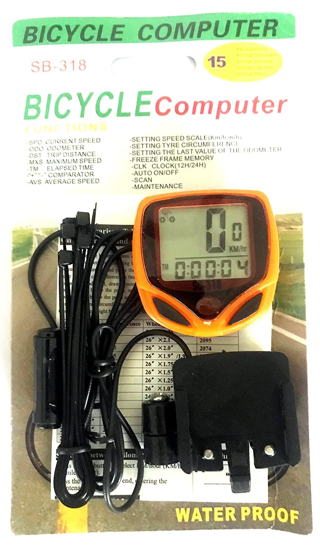 Buy Schrodinger15 Function Bicycle Computer Odometer Speedometer