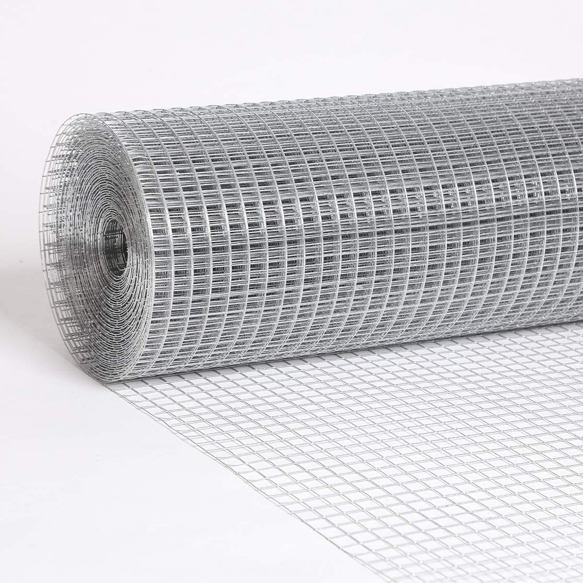 Nueve Deer Hardware Cloth 1/2 Inch 19 Gauge 36''x100' Galvanized After Welding Fence Mesh Roll Garden Plant Supports,Tree Guards, Drains, Gutters, Windows Screen