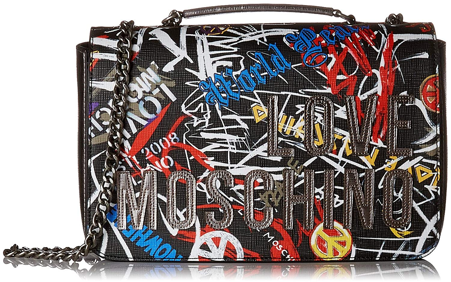 Love Moschino Borsa Digital Print Pvc, Women's Satchel, Black (Nero), 6x18x29 cm (B x H T) Women's Satchel JC4090PP16LN0
