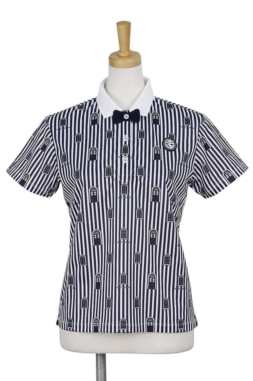 アンパスィ and per se 半袖シャツポロシャツ 半袖ポロシャツ レディス M ネイビー B07R2DFTHM