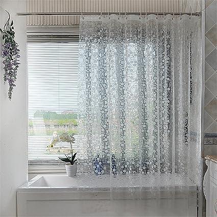 Amazon Luxiu Home Mildew Resistant PEVA Semi Transparent Shower