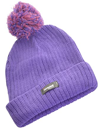 31f4f98376a49 Wintery Ladies Womens Girls 3M Thinsulate 40gram Ribbed Lined Bobble ...