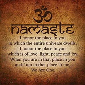 Culturenik Namaste Buddhist Inspirational Motivational Spiritual Yoga Quote Print (Unframed 12x12 Poster)