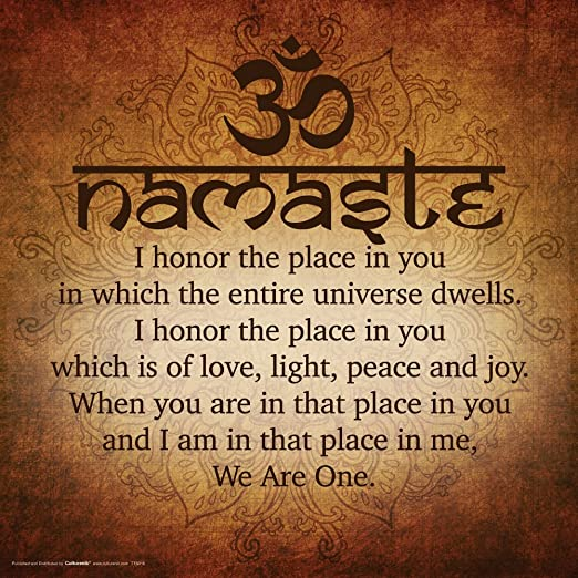 Amazon Com Culturenik Namaste Buddhist Inspirational Motivational Spiritual Yoga Quote Print Unframed 12x12 Poster Posters Prints