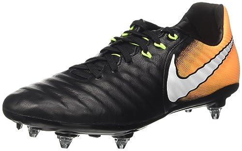 Nike Tiempo Legacy III SG, Chaussures de Football Homme, Noir (Black/White-Laser Orange-Volt), 45 EU
