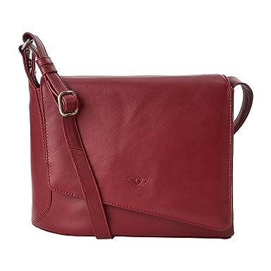 Damen Überschlagtasche Rebecca 21517 aus feinnarbiges Nappa-Kalbsleder in Granat Voi ohWYkDC