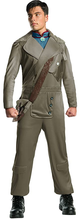 Men's 1900s Costumes: Indiana Jones, WW1 Pilot, Safari Costumes Rubies Costume Co. Mens Wonder Woman Movie Deluxe Steve Trevor Costume $54.99 AT vintagedancer.com