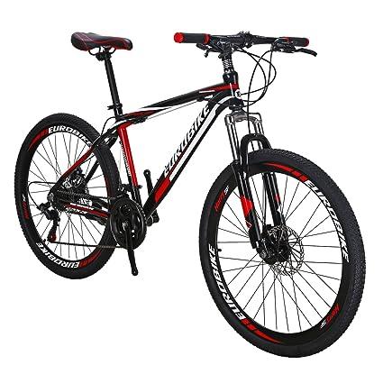 Amazon.com : EUROBIKE EURX1 GTR Aluminium Mountain Bike 21 Speed ...