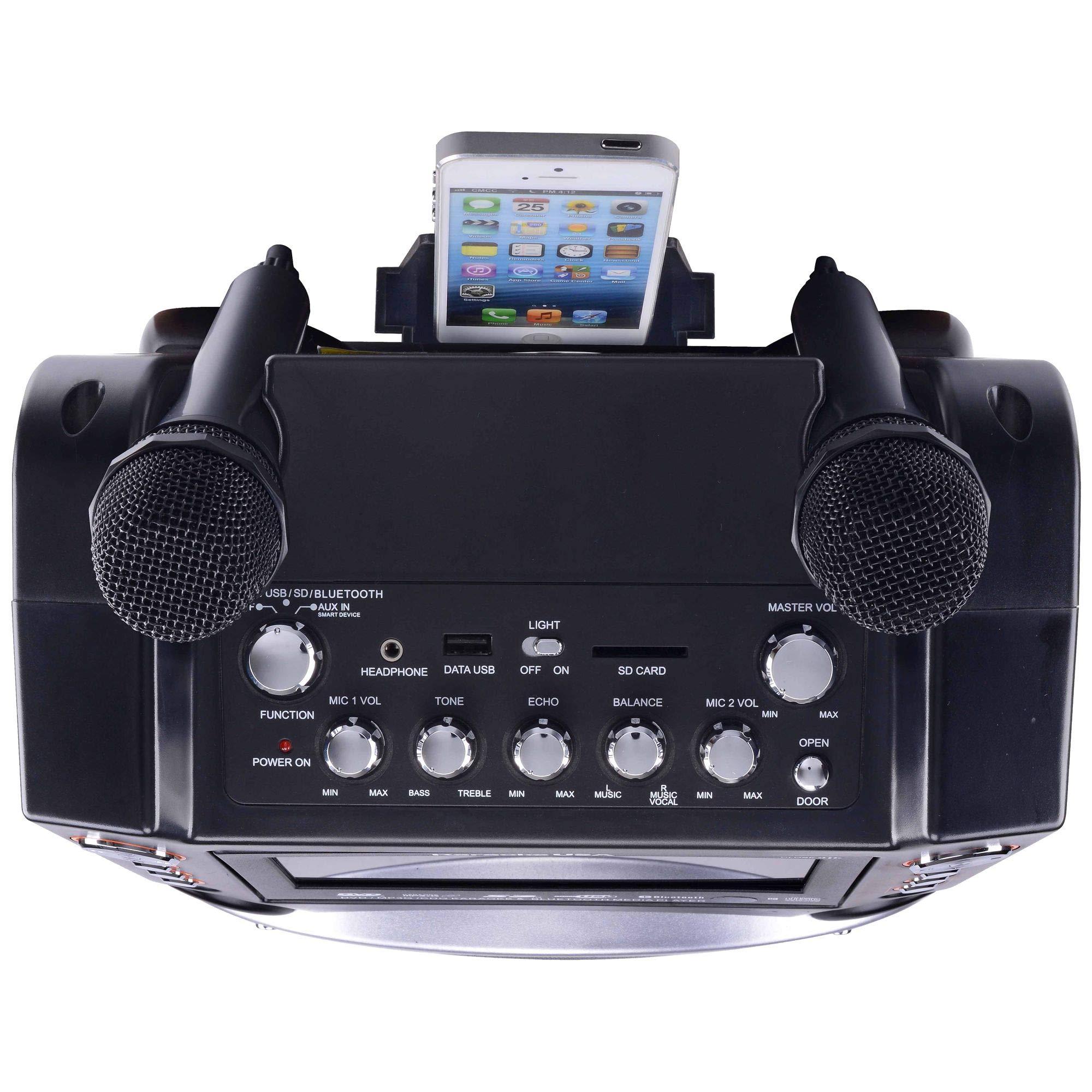 Karaoke USA GF846 DVD/CDG/MP3G Karaoke Machine with 7'' TFT Color Screen, Record, Bluetooth and LED Sync Lights by Karaoke USA (Image #15)