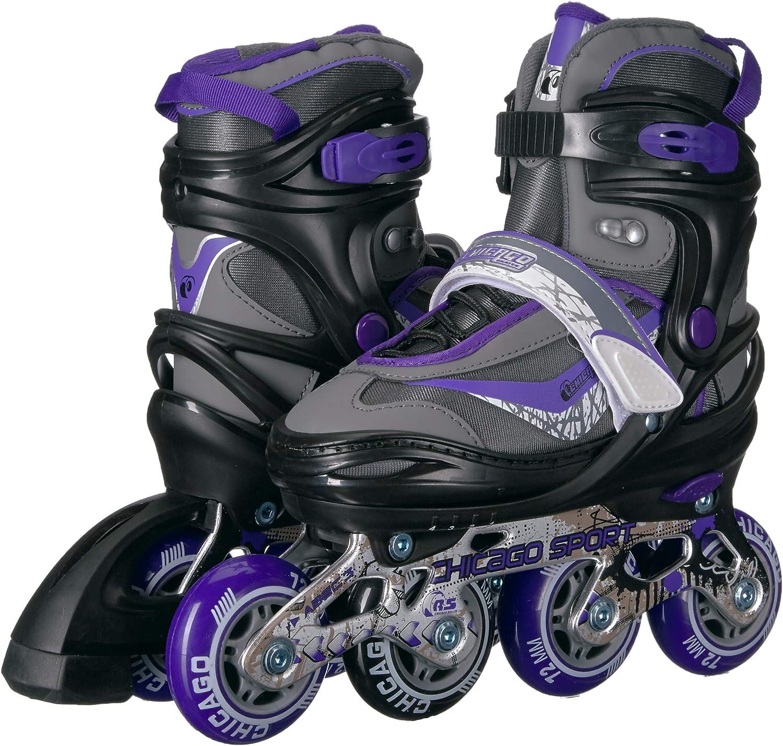 Chicago Adjustable Purple Inline Skates