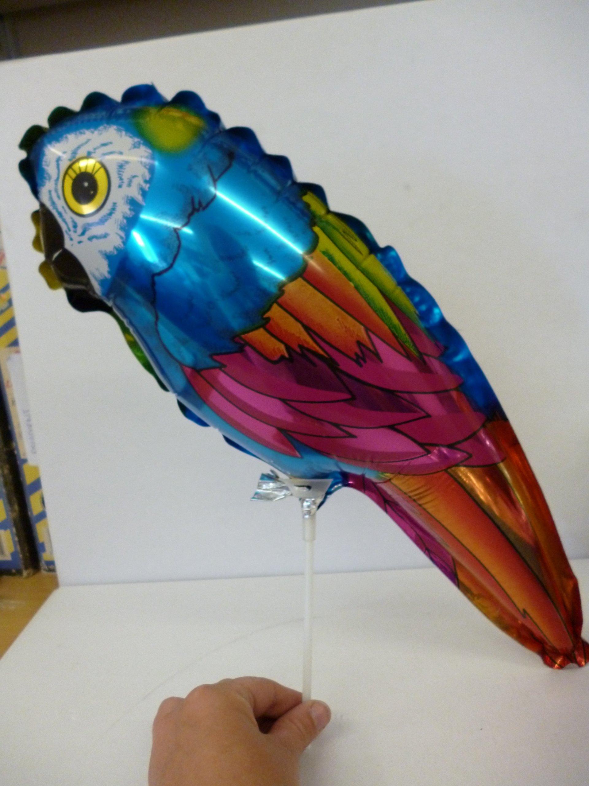 """Grabo 15"""" Colourful Parrot Shaped Mini Foil Balloon (m10)"""