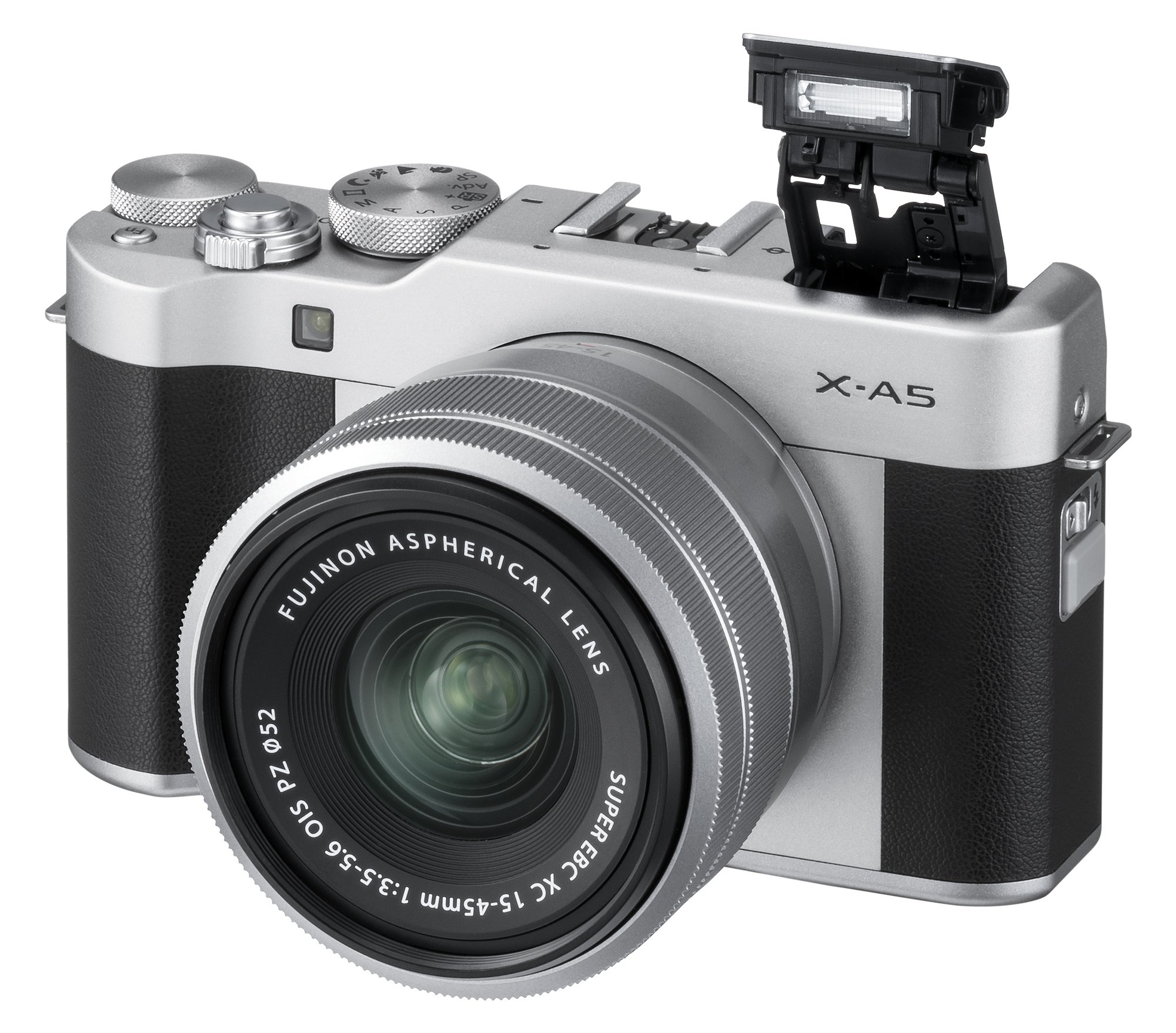 Fujifilm X-A5 Mirrorless Digital Camera w/XC15-45mmF3.5-5.6 OIS PZ Lens - Silver by Fujifilm (Image #7)