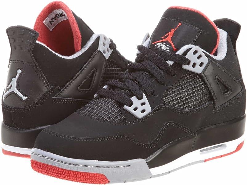 989f0a29bb227 Air 4 Retro Big Kids Style: 408452-089 Size: 7 Black