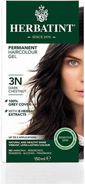 Herbatint 3N - Tinte para el cabello, color castaño oscuro, 150 ml