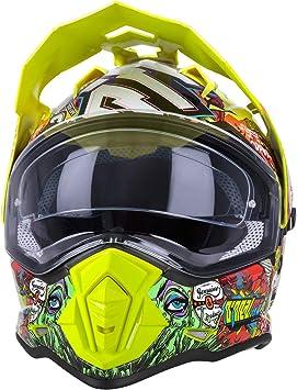 O Neal Motorrad Helm Enduro Adventure Street Ventilationsöffnungen Für Maximalen Luftstrom Und Kühlung Integrierte Sonnenblende Sierra Helmet Crank Erwachsene Multi Größe M Auto