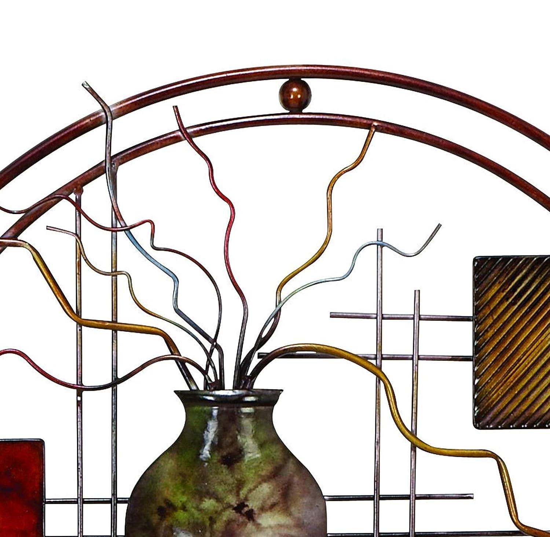 Benzara Aesthetically Charmed Round Metal Wall D/écor Multicolor BM07986