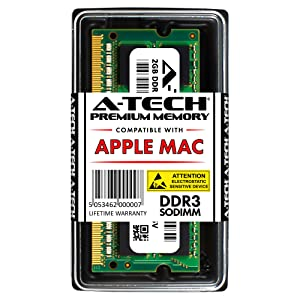 A-Tech for Apple 2GB DDR3 1067MHz / 1066MHz PC3-8500 SODIMM Memory RAM Module for MacBook, MacBook Pro, iMac, Mac Mini - (Late 2008, Early 2009, Mid 2009, Late 2009, Mid 2010) Models