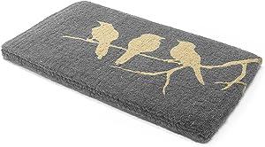 Handwoven, Extra Thick Doormat   Durable Coir, Easy Clean, Stylish   Entryway Door mat for Patio, Front Door   Decorative All-Season   Birds on Branch   18