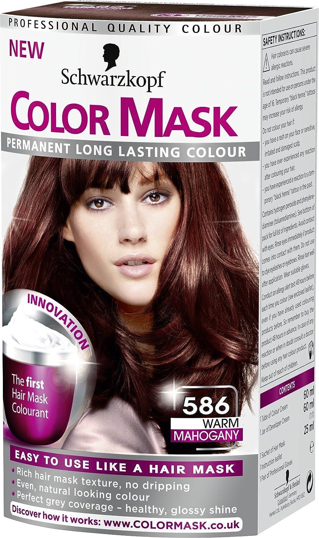 Schwarzkopf Color máscara 586 Cálido caoba permanente tinte de pelo