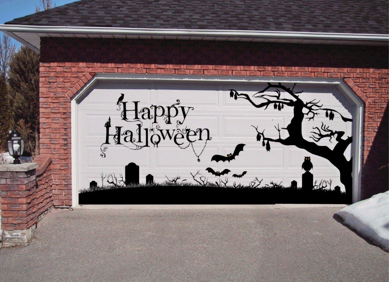 Halloween garage door decorations - Amazon Com Happy Halloween Garage Door Decoration Holiday Xtra Large Vinyl Decal Removeable Automotive