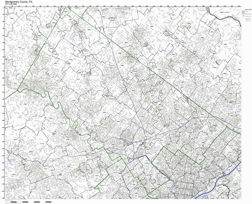 Amazon Com Working Maps Montgomery County Pennsylvania Pa Zip