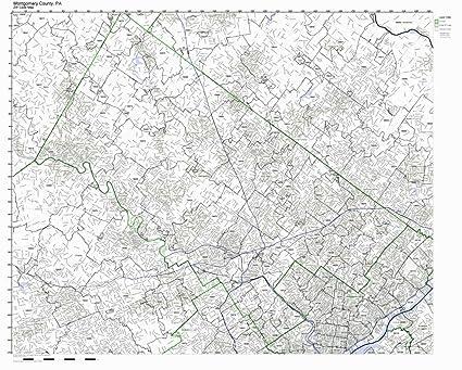 Amazon Com Montgomery County Pennsylvania Pa Zip Code Map Not