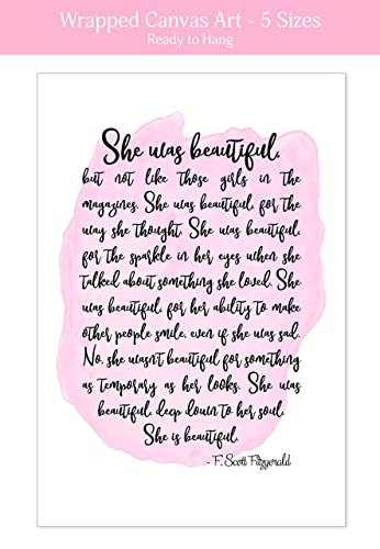 Amazoncom She Was Beautiful F Scott Fitzgerald Quote Art Print