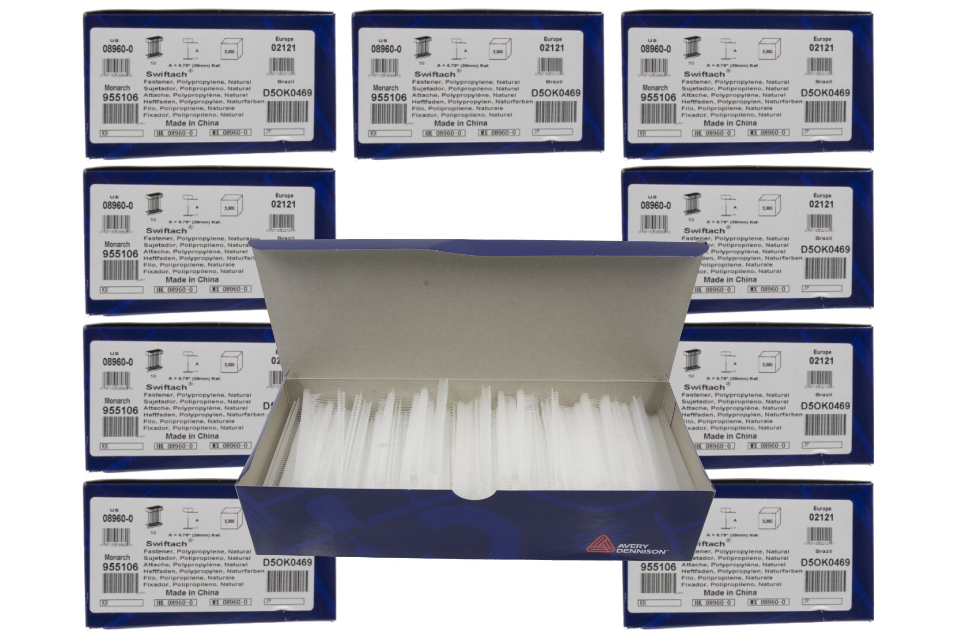 10-Pack of Avery Dennison 1'' Swiftach Tagging Gun Barbs / Fasteners - 5,000 Fasteners Per Box = 50,000 Fasteners - Genuine Avery Dennison # 08960 by Avery Dennison