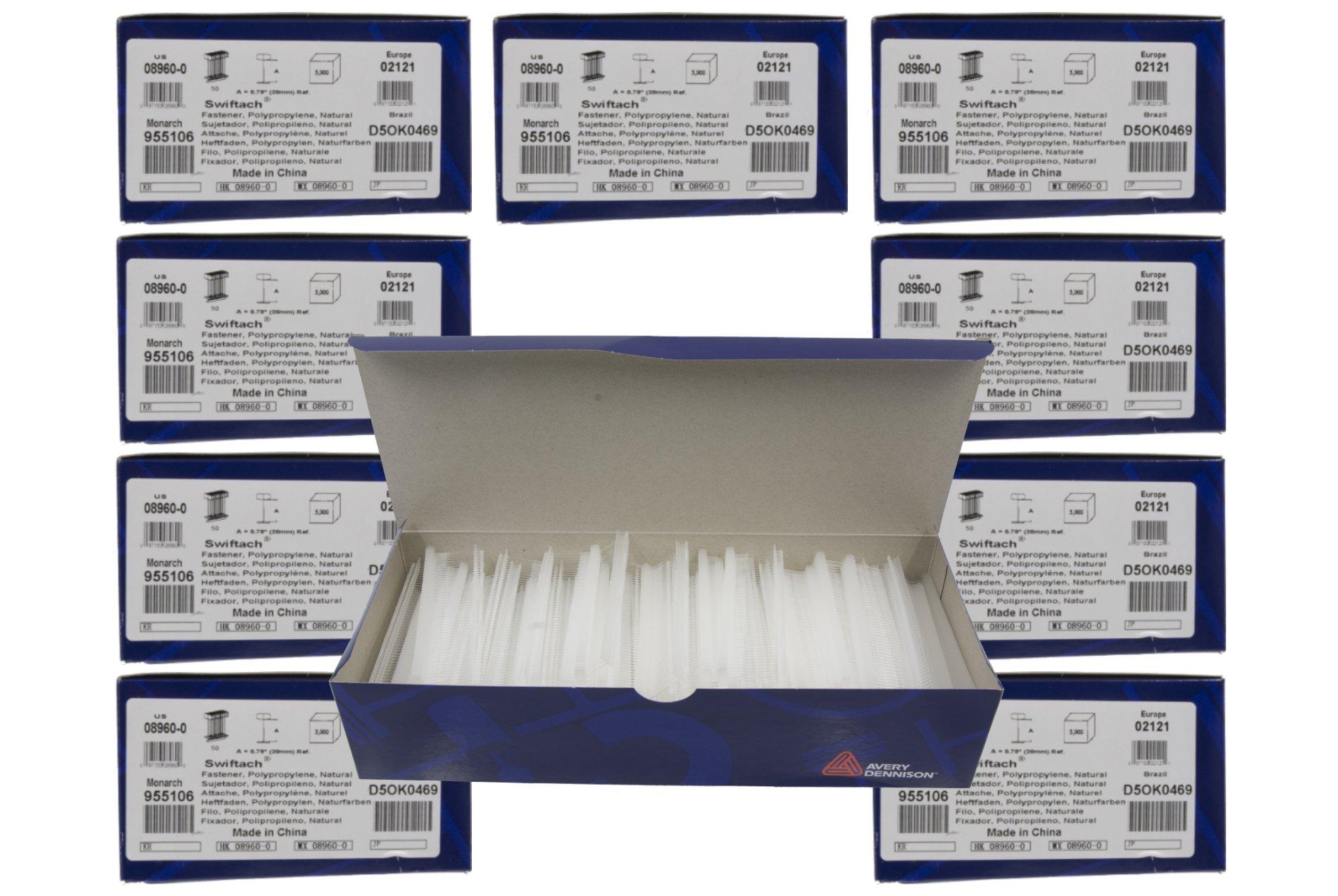 10-Pack of Avery Dennison 1'' Swiftach Tagging Gun Barbs / Fasteners - 5,000 Fasteners Per Box = 50,000 Fasteners - Genuine Avery Dennison # 08960
