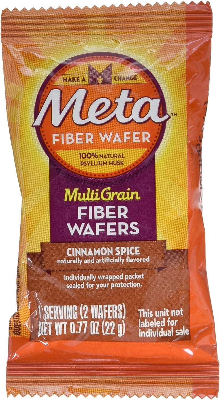 Meta Multi-grain Fiber Wafers by Meta, Cinnamon Spice 48 Count (Pack of 4)