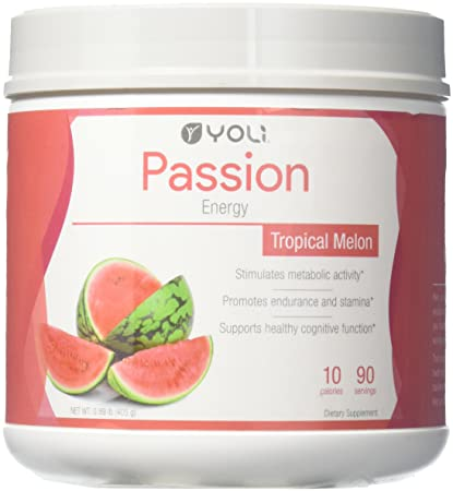 Yoli Passion Energy Drink – Tropical Melon Flavor – Canister
