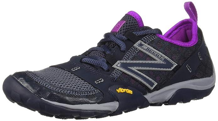 New Balance Womens Minimus 10v1 Trail Shoes Grey with Purple