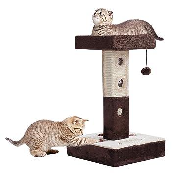 625e522268d Pawhut Griffoir Arbre a Chat 35L x 35l x 61H cm Boule de sisal Souris  Chocolat