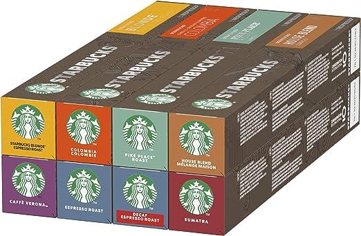 STARBUCKS By Nespresso Variety Pack, 8 X Tubos De 10 Cápsulas De ...