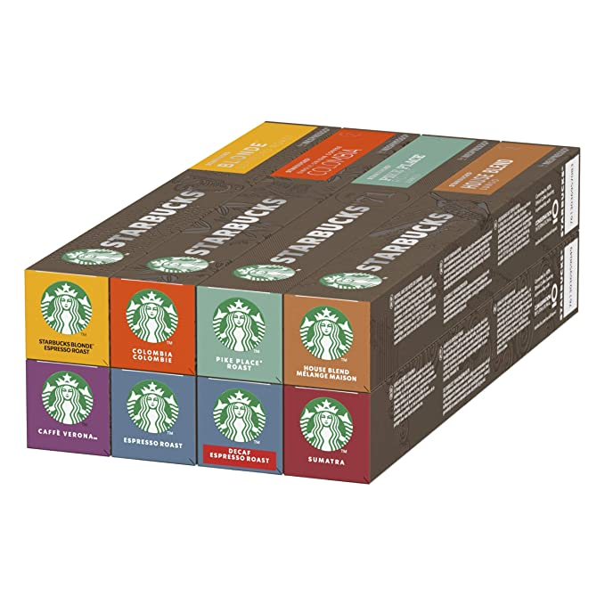 STARBUCKS By Nespresso Variety Pack, 12 X Tubos De 10 Cápsulas De ...