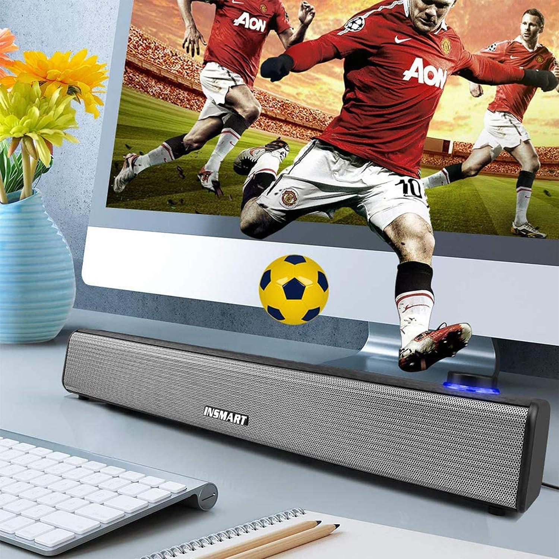 altany-zadaszenia.pl INSMART Computer Speakers Wired Sound Bar USB ...