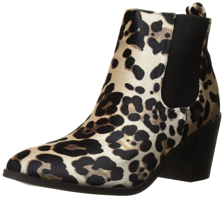 Madden Girl Women's Barbiee Ankle Boot B0756JBFP3 7 B(M) US|Leopard Velvet