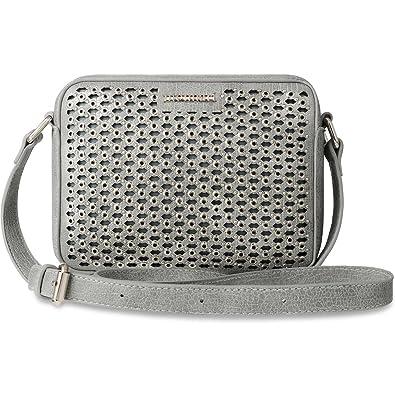 de8dc3c3d3608 Monnari Schultertasche Damen Tasche Umhängetasche Glamour Nieten grau silber