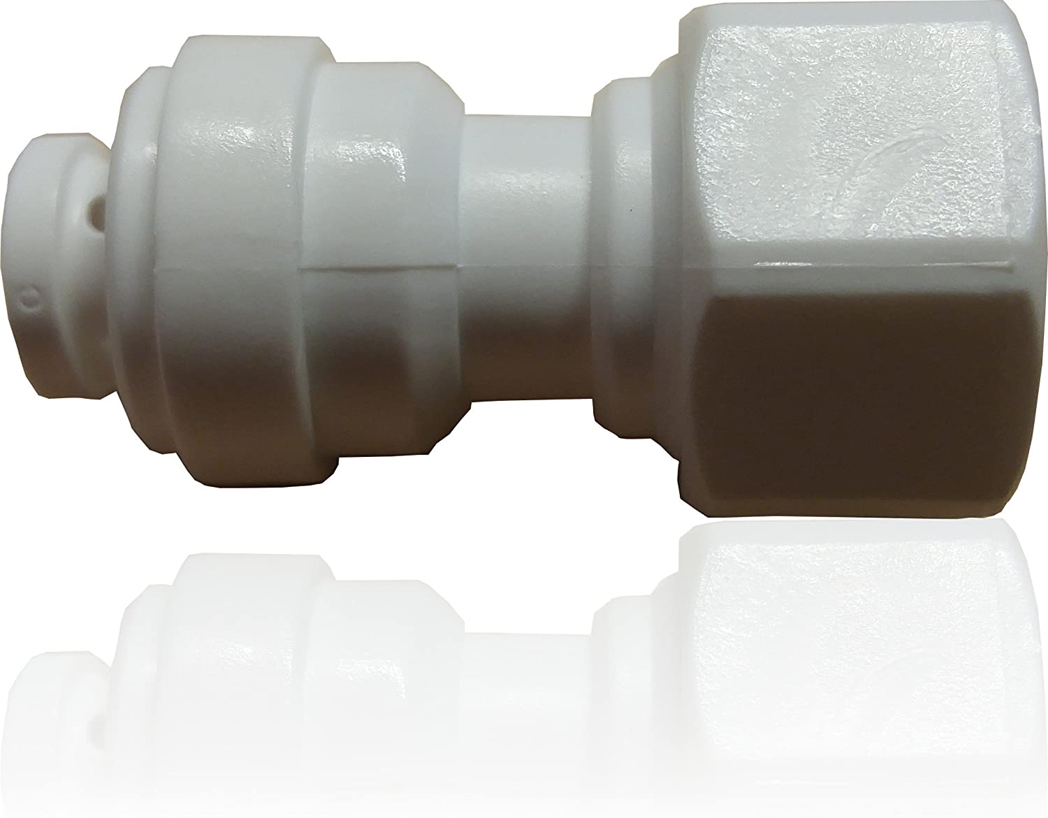 "Universal Reverse Osmosis Faucet Spout 1/4"" Quick Connect Adapter. NSF certified."