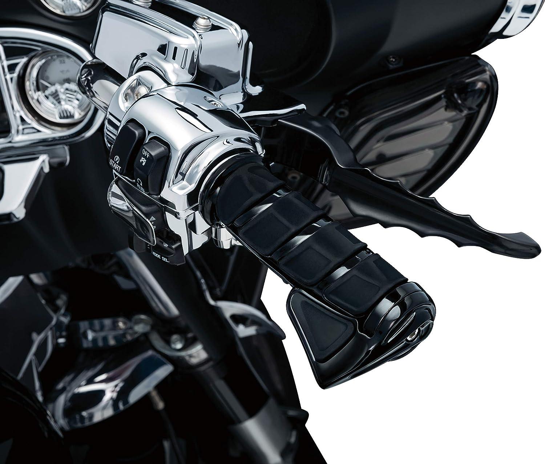 Kuryakyn 6355 Motorcycle Handlebar Accessory: Kinetic Throttle Boss Gloss Black Pack of 1 Universal Fit with Kuryakyn Kinetic Grips