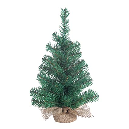 small christmas tree indoor gerson tabletop 18 inch pine tree with burlap base miniature artificial green - Small Decorations For Christmas