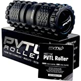 PVTL Vibrating Foam Roller 3 Speed Best Vibranting Foam Roller Rechargeable Recovery Therapeutic Electric Massager Deep Tissue Massage 1 Year Guarantee Free (Downloadable) Stretching Chart Included