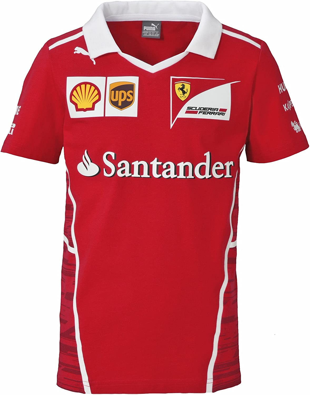 Oficial Ferrari F1 2017 niños equipo camiseta – rojo, 11-12 yrs ...